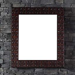 Balmoral 42-Inch x 37-Inch Rectangular Mirror in Antique Walnut