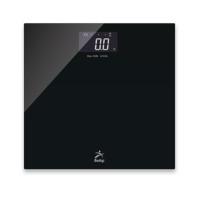 Alternate image 1 for American Weigh Scales Bodigi Essential Digital Wireless Smart Bathroom Scale in Black