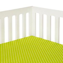 Glenna Jean Pippin Polka Dot Fitted Crib Sheet in Green