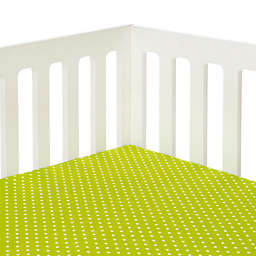 Glenna Jean Pippin Polka Dot Fitted Crib Sheet in Green