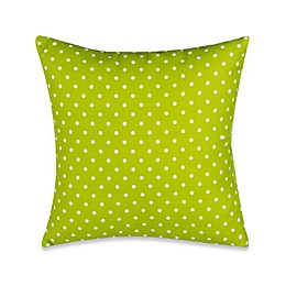 Glenna Jean Pippin Polka Dot Throw Pillow in Green/White
