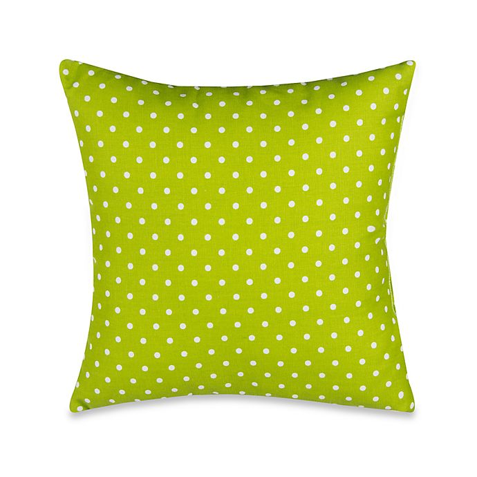 Alternate image 1 for Glenna Jean Pippin Polka Dot Throw Pillow in Green/White