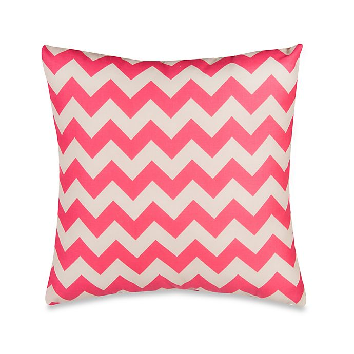 Alternate image 1 for Glenna Jean Pippin Chevron Throw Pillow in Pink/White