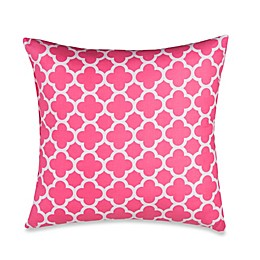 Glenna Jean Pippin Quatrefoil Throw Pillow in Pink