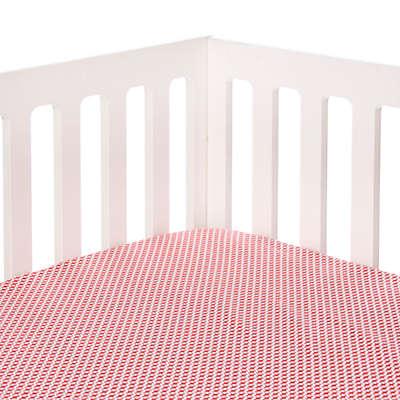 Glenna Jean Fish Tales Geometric Print Fitted Crib Sheet in Orange