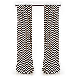 Glenna Jean Traffic Jam 90-Inch Chevron Window Panels (Set of 2)