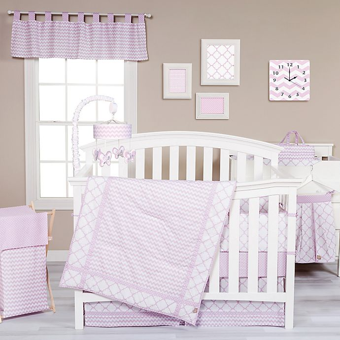 Alternate image 1 for Trend Lab® Orchid Bloom Crib Bedding Collection