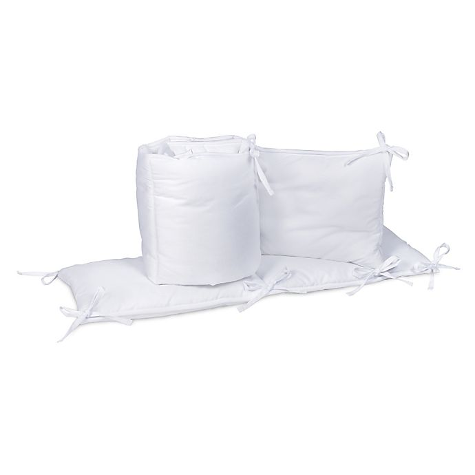 Alternate image 1 for Trend Lab® 4-Piece Crib Bumper Set in White