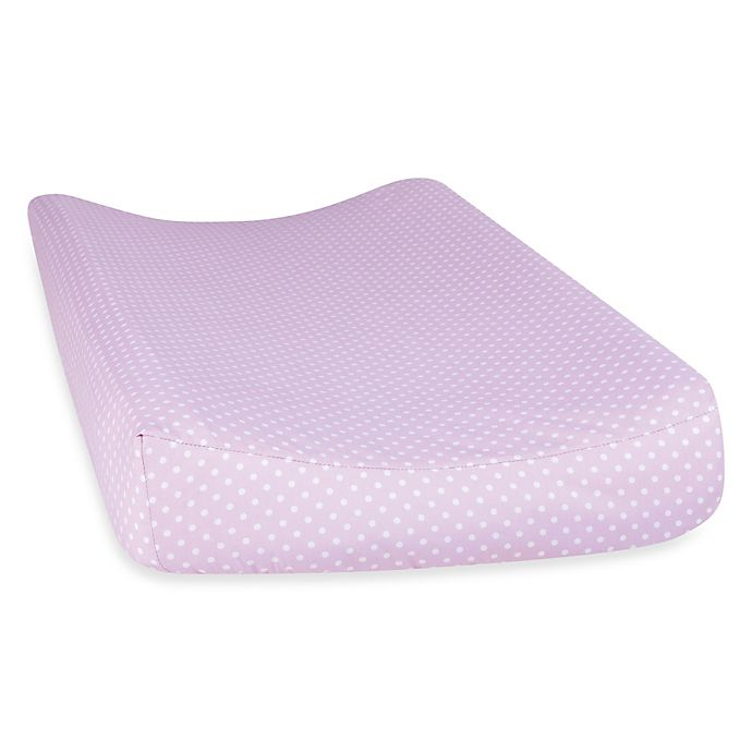 Alternate image 1 for Trend Lab® Orchid Bloom Dot Changing Pad Cover