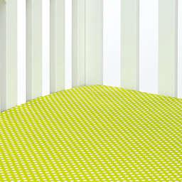 Glenna Jean Blossom Polka Dot Fitted Crib Sheet in Green