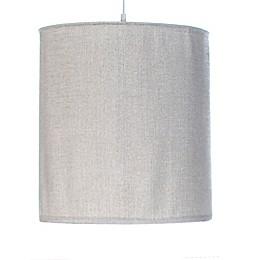 Glenna Jean Blossom Velvet Hanging Drum Shade Kit in Silver