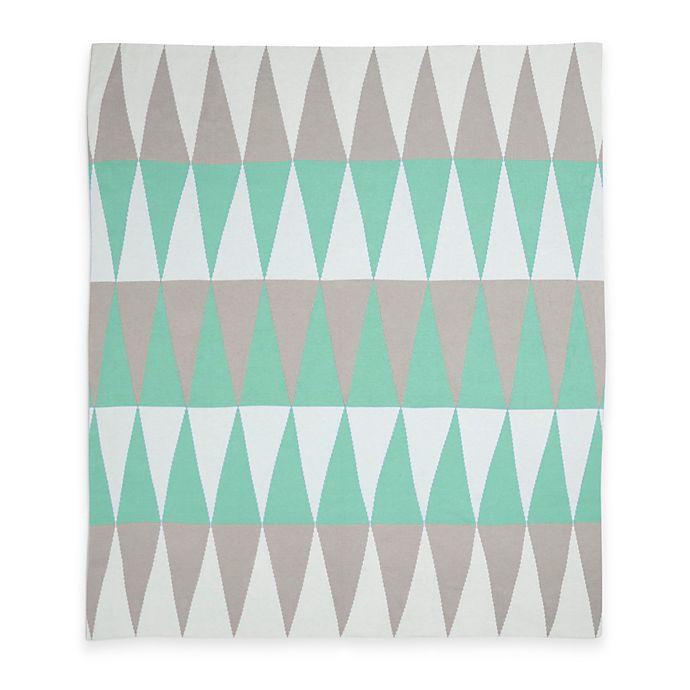 Alternate image 1 for Weegoamigo Carousel Cotton Knit Baby Blanket in Green