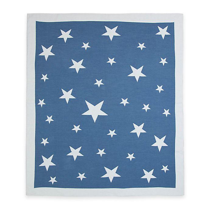Alternate image 1 for Weegoamigo Stellar Cotton Knit Baby Blanket in Navy