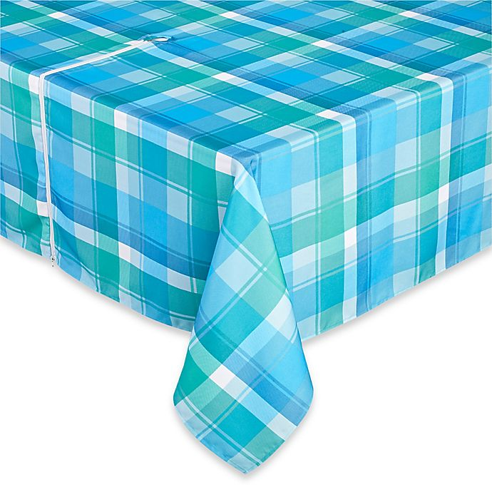 Alternate image 1 for Phoenix Plaid Tablecloth in Blue