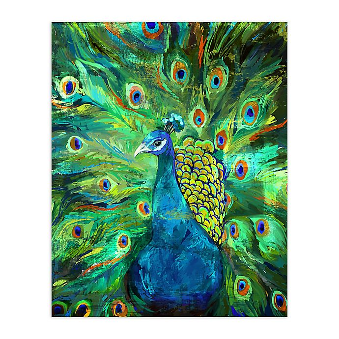 Alternate image 1 for Pied Piper Creative Peacock Power Canvas Wall Art