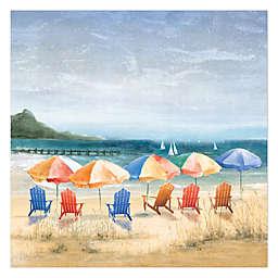 Beach Umbrella Heaven Canvas Wall Art
