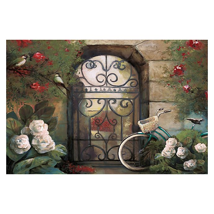 Alternate image 1 for Pied Piper Creative Garden Gate 36-Inch x 24-Inch Canvas Wall Art
