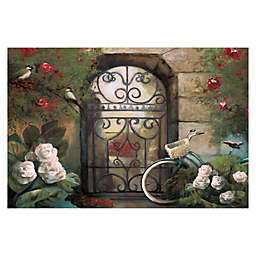 Pied Piper Creative Garden Gate 48-Inch x 32-Inch Canvas Wall Art