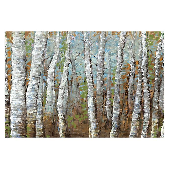 Alternate image 1 for Pied Piper Creative Painted Birches 48-Inch x 32-Inch Canvas Wall Art