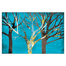 Pied Piper Creative Blue Tree Line 36-Inch x 24-Inch Canvas Wall Art