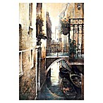 Pied Piper Creative Italian Canal 24-Inch x 36-Inch Canvas Wall Art