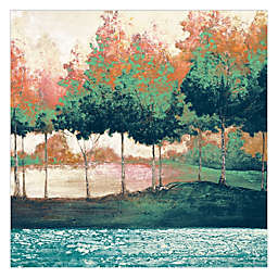 Pied Piper Creative Colorful Woods 24-Inch x 24-Inch Canvas Wall Art