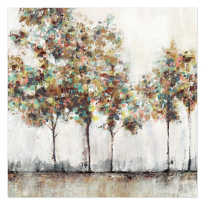 Alternate image 1 for Pied Piper Creative Painted Brush Trees 36-Inch x 36-Inch Canvas Wall Art