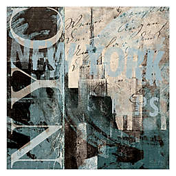 Pied Piper Creative Sleepless City 30-Inch x 30-Inch Canvas Wall Art