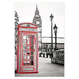 Designs Direct London Phone Booth 24-Inch x 36-Inch Canvas Wall Art