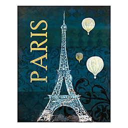 Pied Piper Creative Teal Paris 16-Inch x 20-Inch Canvas Wall Art