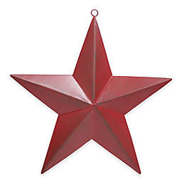 Metal Star Plaque in Red