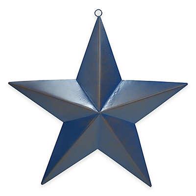 Metal Star Plaque in Blue