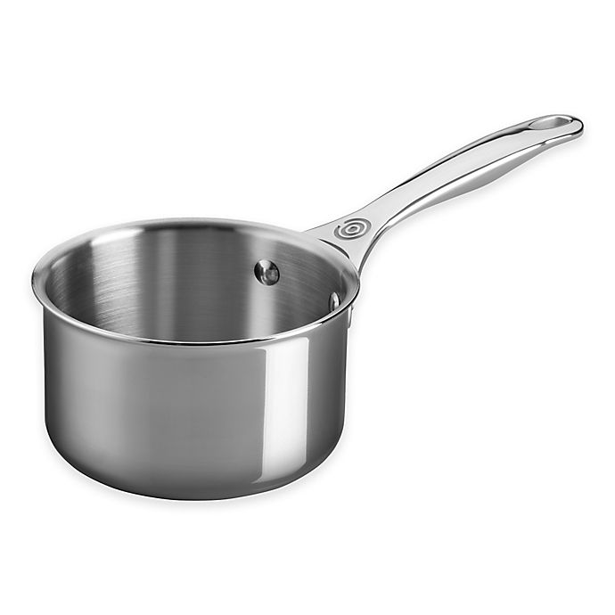 Alternate image 1 for Le Creuset® Tri-Ply Stainless Steel 1.3 qt. Open Saucepan