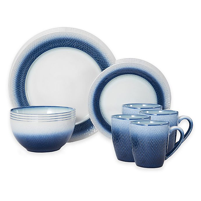 Alternate image 1 for Pfaltzgraff® Eclipse 16-Piece Dinnerware Set in Blue