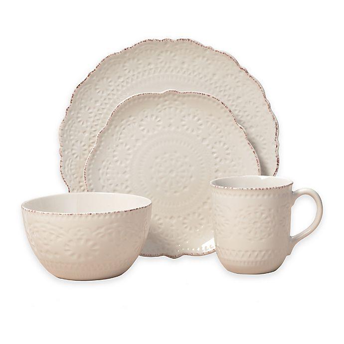 Alternate image 1 for Pfaltzgraff® Chateau 16-Piece Dinnerware Set in Cream