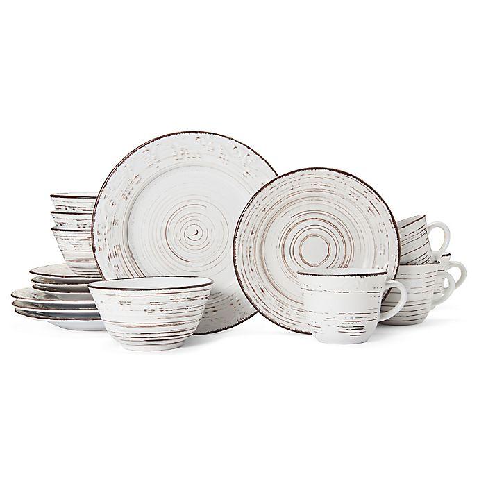 Alternate image 1 for Pfaltzgraff® Trellis White 16-Piece Dinnerware Set