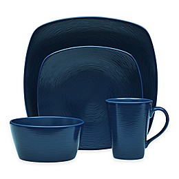 Noritake® Navy on Navy Swirl Square Dinnerware Collection