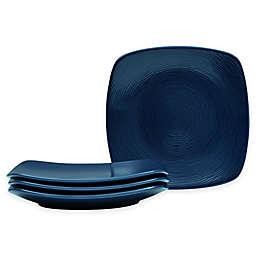 Noritake® Navy on Navy Swirl Square Appetizer Plates (Set of 4)