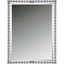 Quoizel Shelburne 25.5-Inch x 33-Inch Rectangular Mirror in Silver
