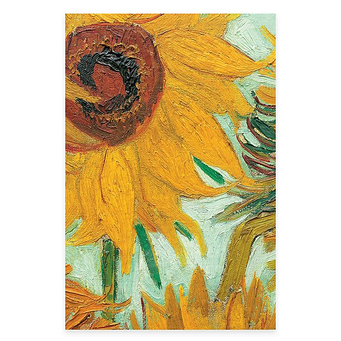 Alternate image 1 for Vincent Van Gogh Vase with 12 Sunflowers Detail Wall Art