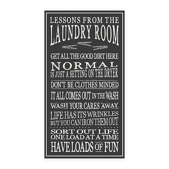 Wall Hanging Lesson Plan: Lessons From The Laundry Room Wood Sign Wall Art In Black