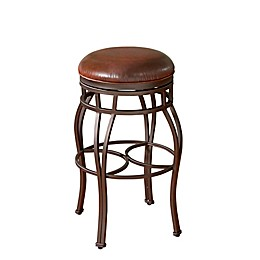 American Heritage Bella Backless Stool in Bourbon