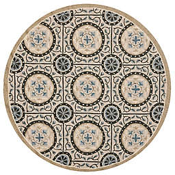 Safavieh Four Seasons Medallion 4-Foot Round Accent Rug in Grey/Blue