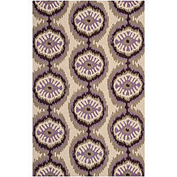 Safavieh Four Seasons Ikat 3-Foot 6-Inch x 5-Foot 6-Inch Area Rug in Beige/Purple