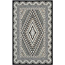 Safavieh Four Seasons Southwest 3-Foot 6-Inch x 5-Foot 6-Inch Area Rug in Ivory/Grey
