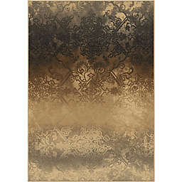 Aria Rugs Galaxy Faded Metal Area Rug in Pewter