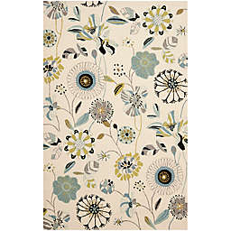 Safavieh Four Seasons 3-Foot 6-Inch x 5-Foot 6-Inch Area Rug in Ivory/Blue