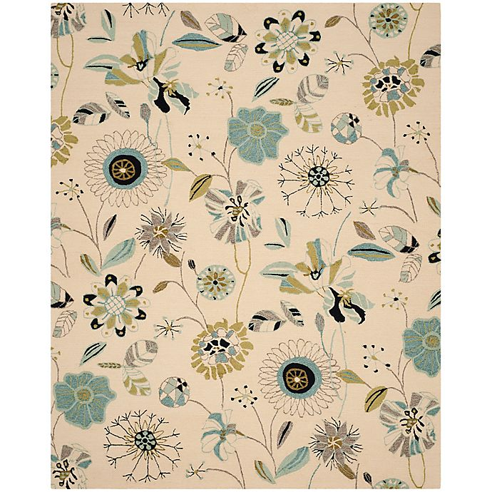 Alternate image 1 for Safavieh Four Seasons 6-Foot Square Rug in Ivory/Blue