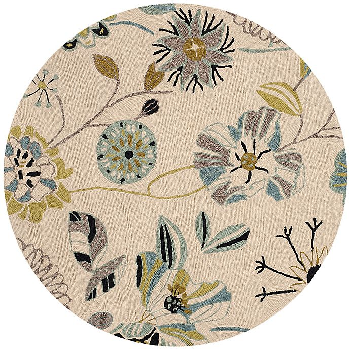 Alternate image 1 for Safavieh Four Seasons 6-Foot Round Area Rug in Ivory/Blue