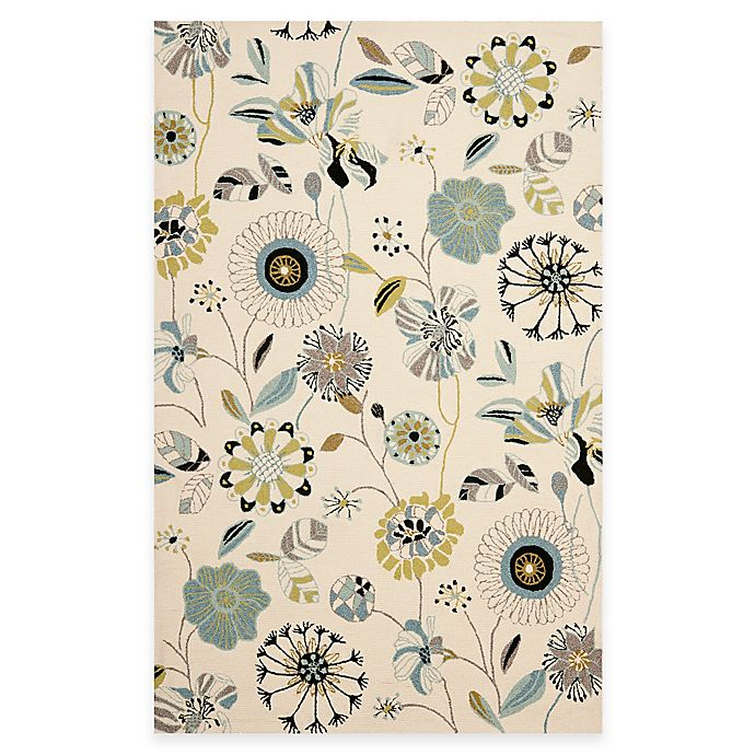 Alternate image 1 for Safavieh Four Seasons 5-Foot x 8-Foot Area Rug in Ivory/Blue